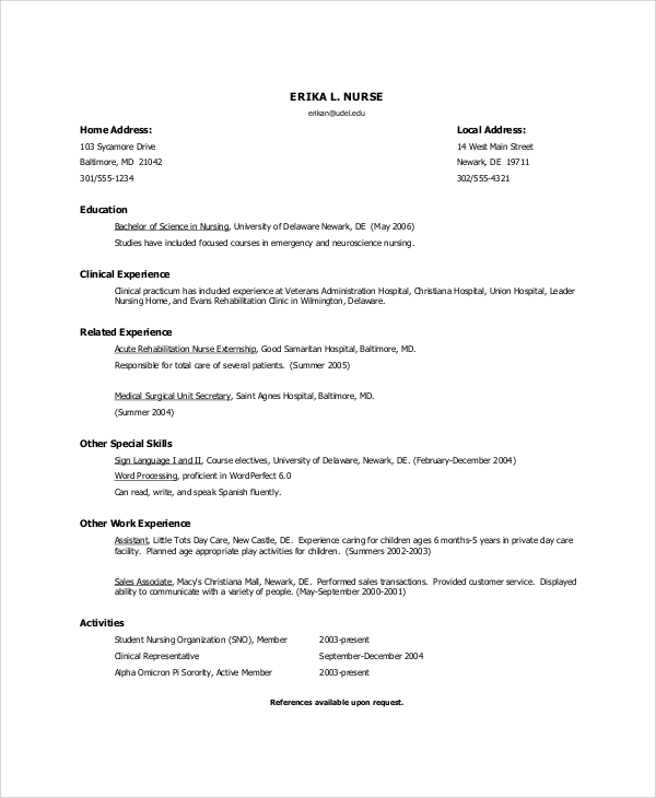 nursing resume objective
