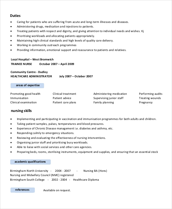 nursing resume objective 7 documents in pdf