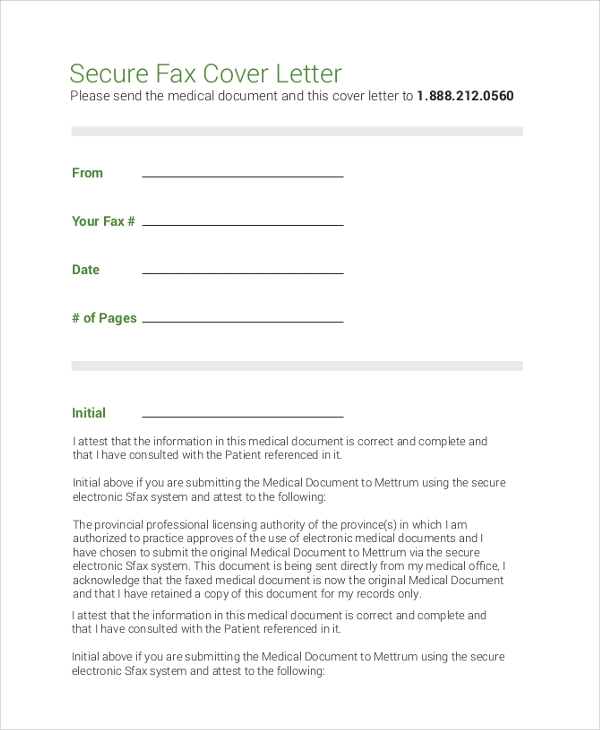 8+ Sample Fax Cover Letters – PDF, Word | Sample Templates
