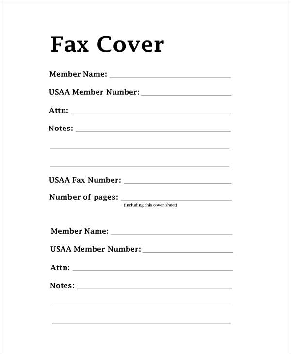 8  sample fax cover letters