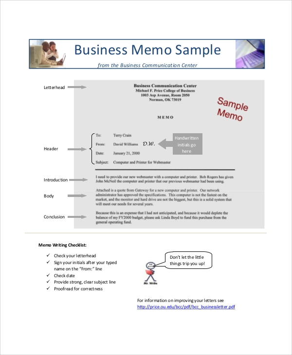 Sample Professional Memo   Documents In Pdf Word