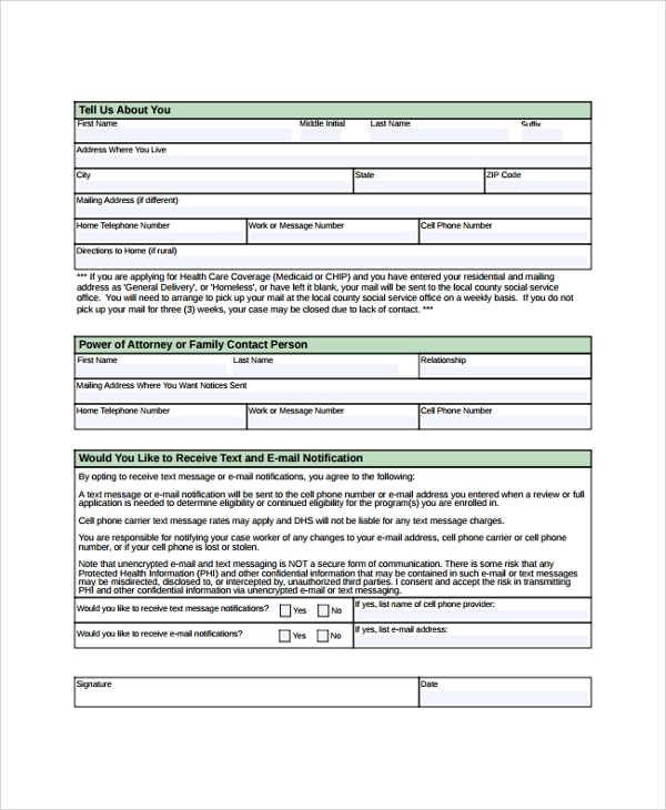 Sample Medicare Application Form - 7+ Documents In Pdf