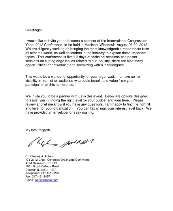 Lovely Corporate Event Sponsorship Agreement Letter Regard To Letter For Sponsorship For Event