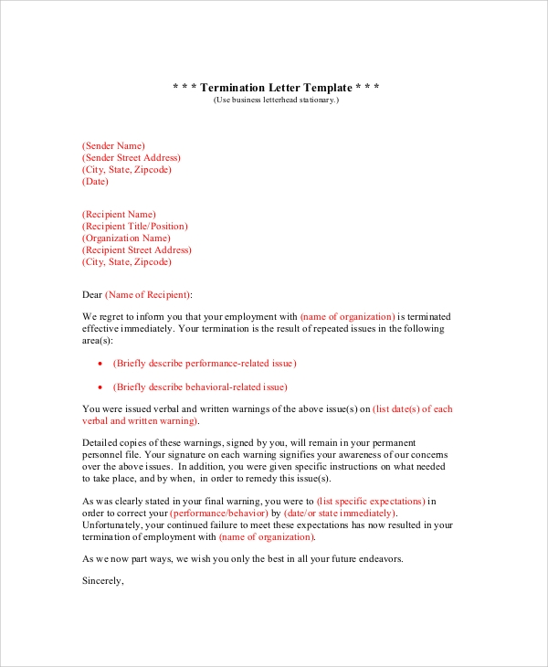 Sample Letter - 23+ Examples In Pdf, Word