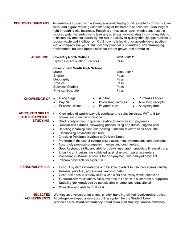 general accounting clerk resume objective
