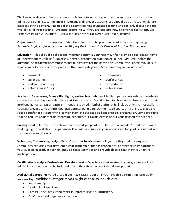 Sample Resume Objective Documents In PDF
