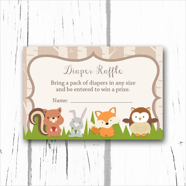 diaper raffle ticket card template