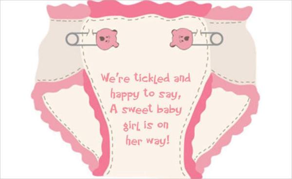 simple diaper shower invitation
