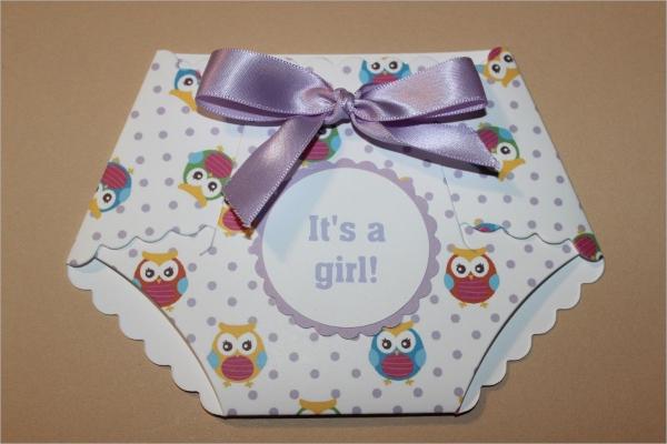 colorful diaper shower invitation