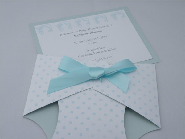 Sample Diaper Invitation Templates In