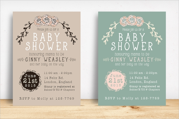20 sample baby shower invitations psd vector eps