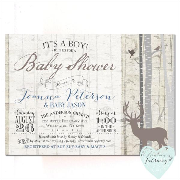 20+ Sample Baby Shower Invitations | Sample Templates