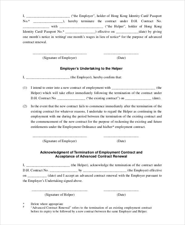 Sample Employment Contract   Documents In Pdf Word