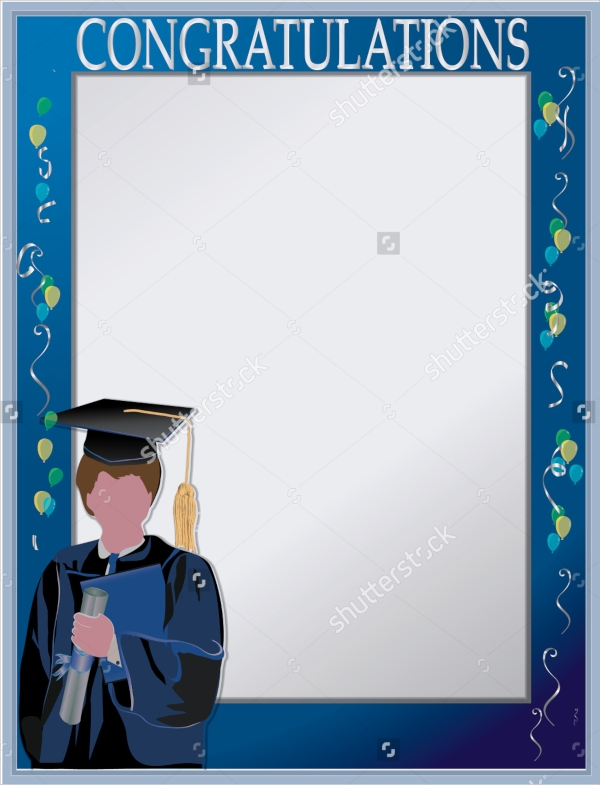 graduation invitation cards vector