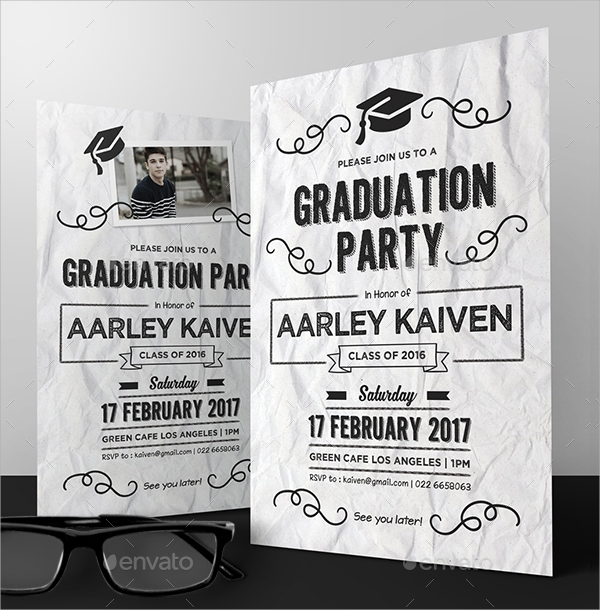 doodle graduation invitation