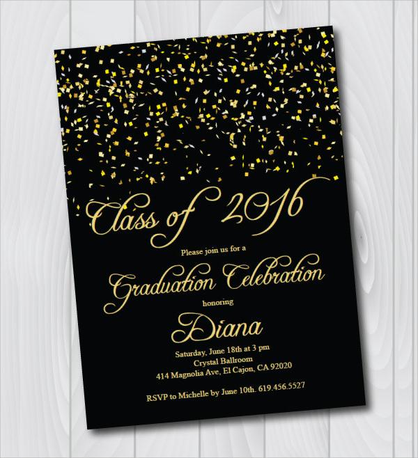 printable graduation invitation card
