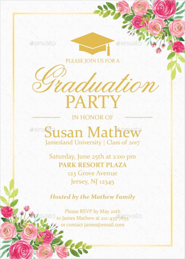 22  sample graduation invitations