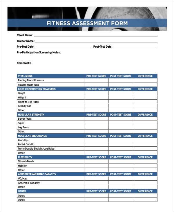 Sample Training Assessment Form - 5+ Documents In Pdf