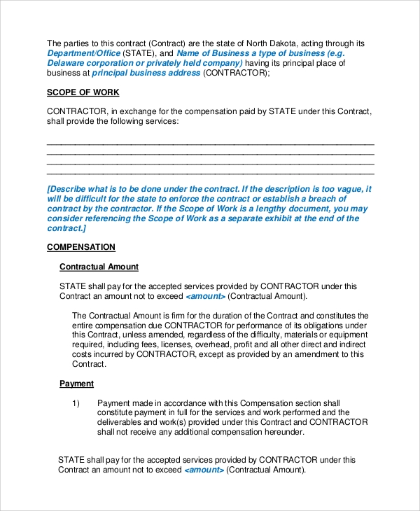 Sample Personal Service Contract 6 Documents in Word PDF