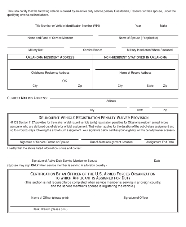 Sample Sworn Affidavit Form   Documents In Pdf