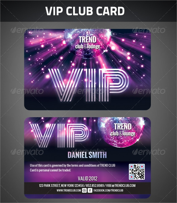 Club Membership Card Template  Membership Card Template