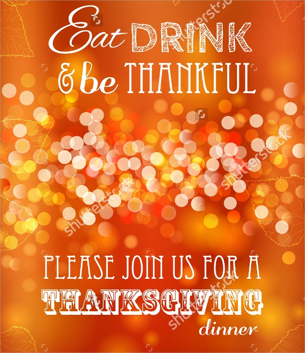 vector thanksgiving invitation template