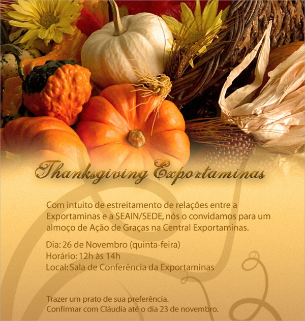 colorful thanksgiving invitation