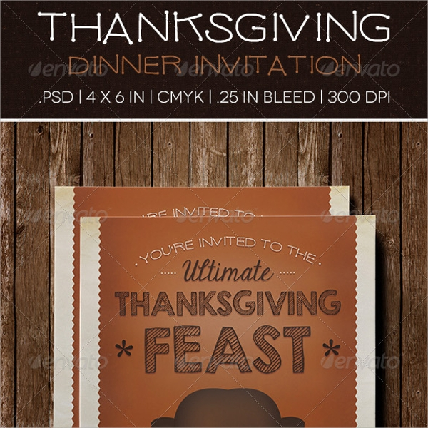 editable thanksgiving invitation