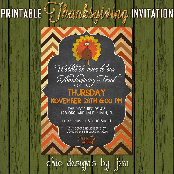 turkey dinner thanksgiving invitation