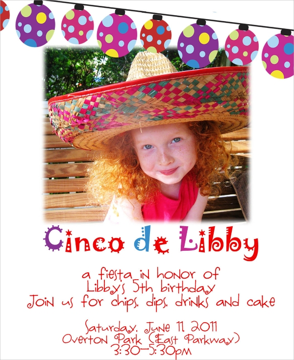 birthday party email invitation