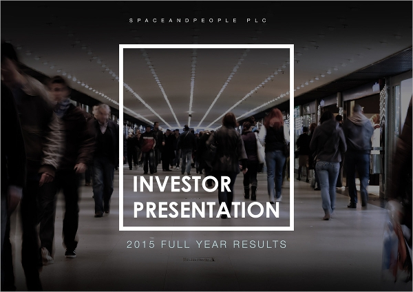 11+ Sample Investor Presentations - Psd, Vector Eps