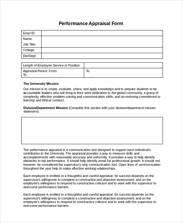 Sample Staff Evaluation. Free Basic Employee Self-Evaluation Form