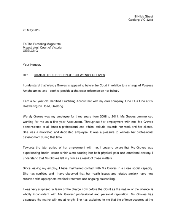 Work Reference Letter Job Recommendation Letter From Professor