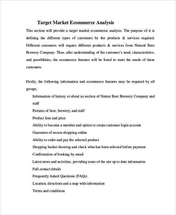 Sample Target Market Analysis - 4+ Documents In Pdf
