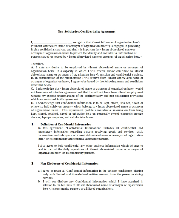 employee confidentiality policy agreement