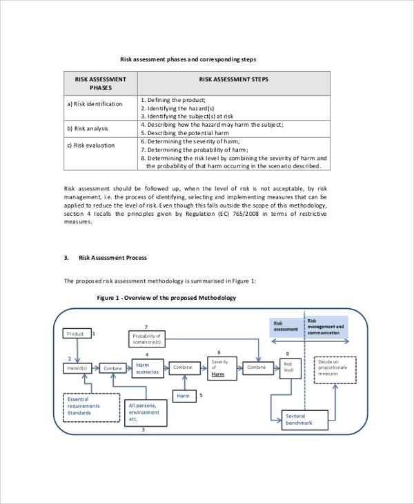 Sample Product Risk Assessment - 7+ Documents In Pdf, Word