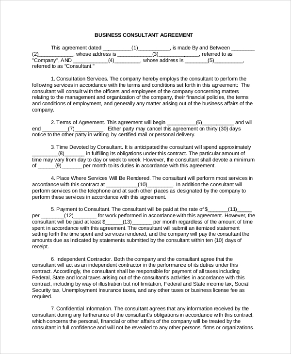 Sample Consulting Services Agreement - 5+ Documents In Pdf