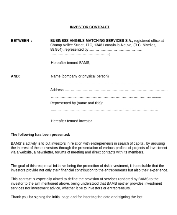 Sample Business Agreement Contract   Documents In Pdf