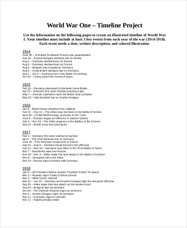 general project timeline