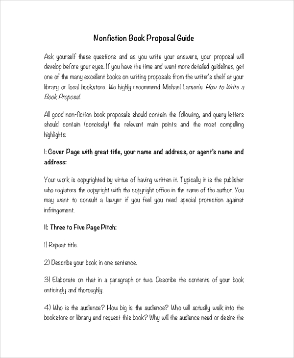 nonfiction book proposal guide