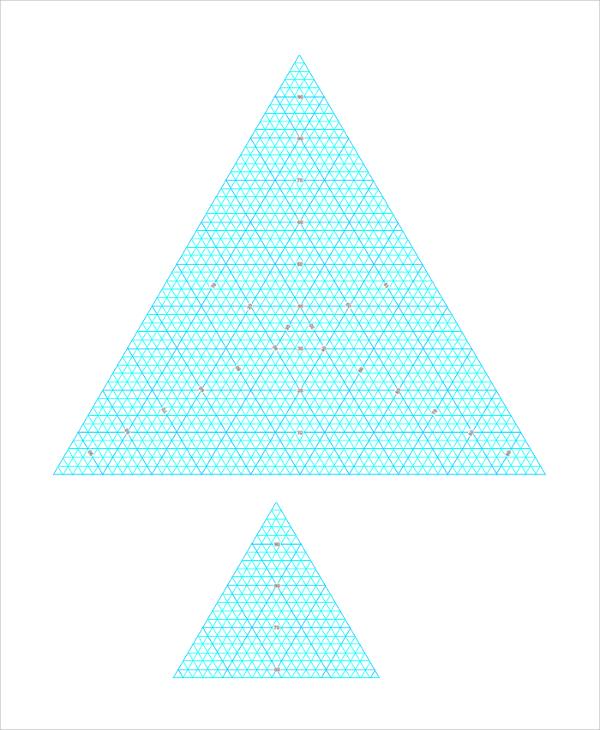 triangular graph paper printable