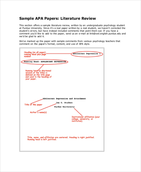 sample literature review for research paper How to write a literature review an academic research paper and a literature review contain some some sample thesis statements for literature reviews are as.