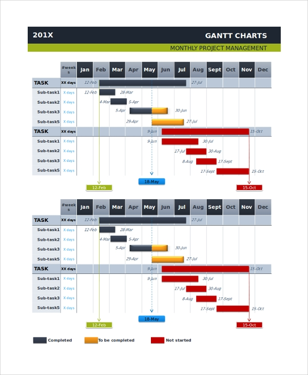 sample gantt chart - 20+ documents in pdf, word, excel, ppt, Modern powerpoint