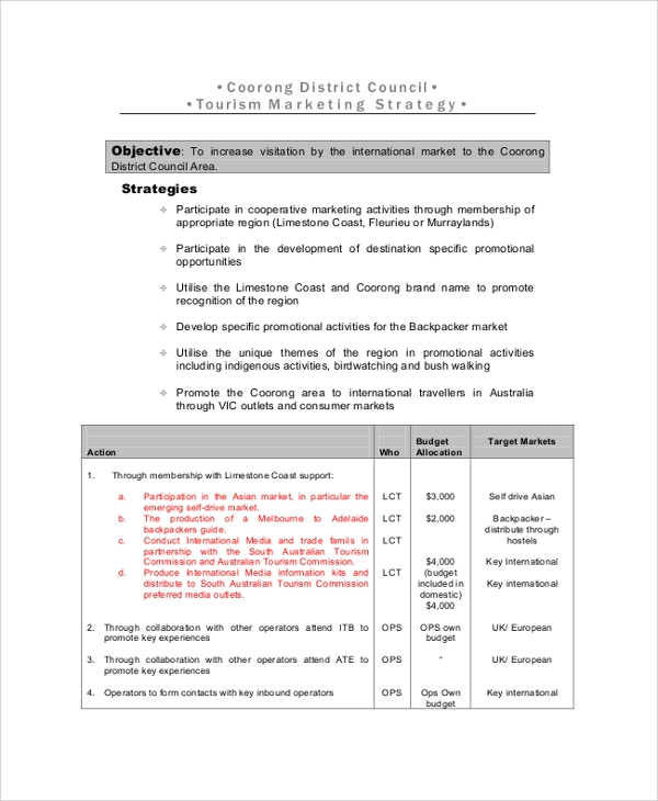 Sample Marketing Strategy - 8+ Documents in PDF, Word