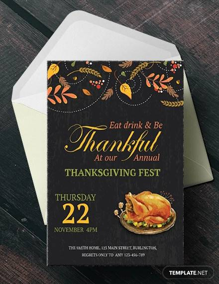 annual thanksgiving fest invitation