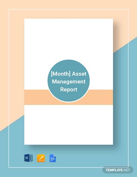 asset mangement report template