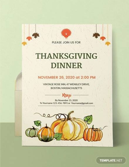 free thanksgiving dinner party invitation