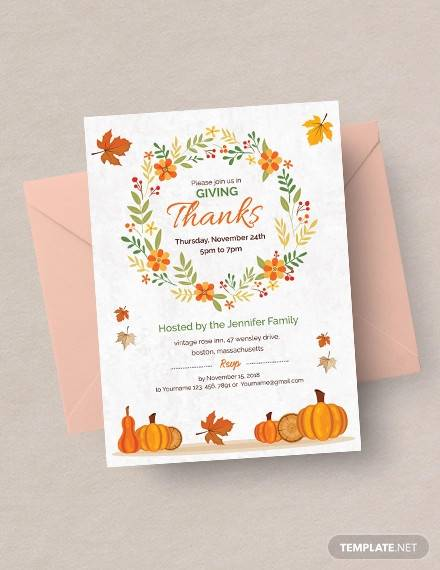 free thanksgiving greeting card invitation1