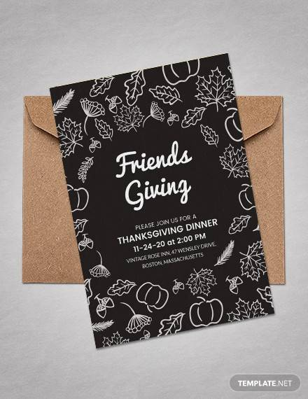 free thanksgiving invitation template for friends