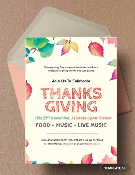 free thanksgiving invitation template1